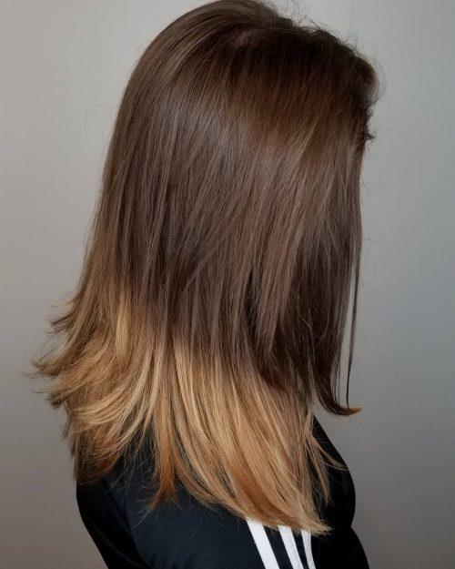 Brun chocolaté à blond miel