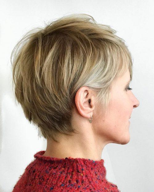 Coupe courte avec cheveux fins