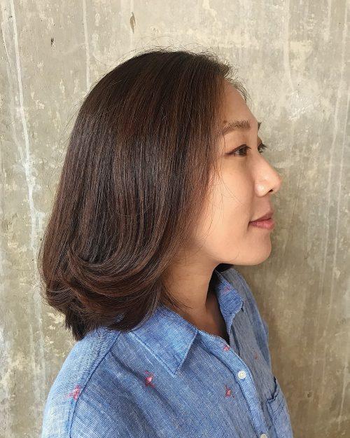 Coupe mi-longue parfaite pour les cheveux fins