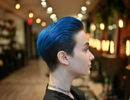 Ombre bleue à brune