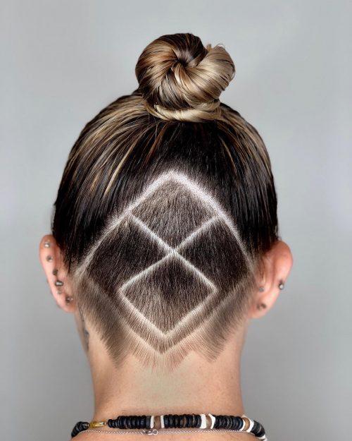 Magnifique motif de diamant et motif géométrique