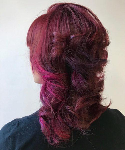 Rouge, violet et rose