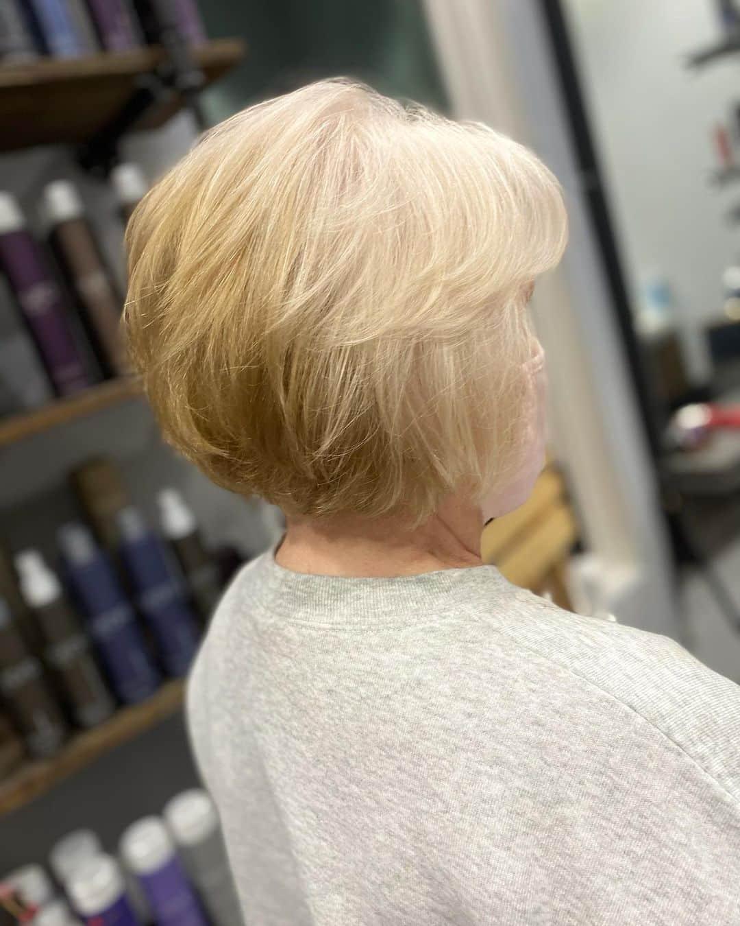 La coupe de cheveux à poils superposés