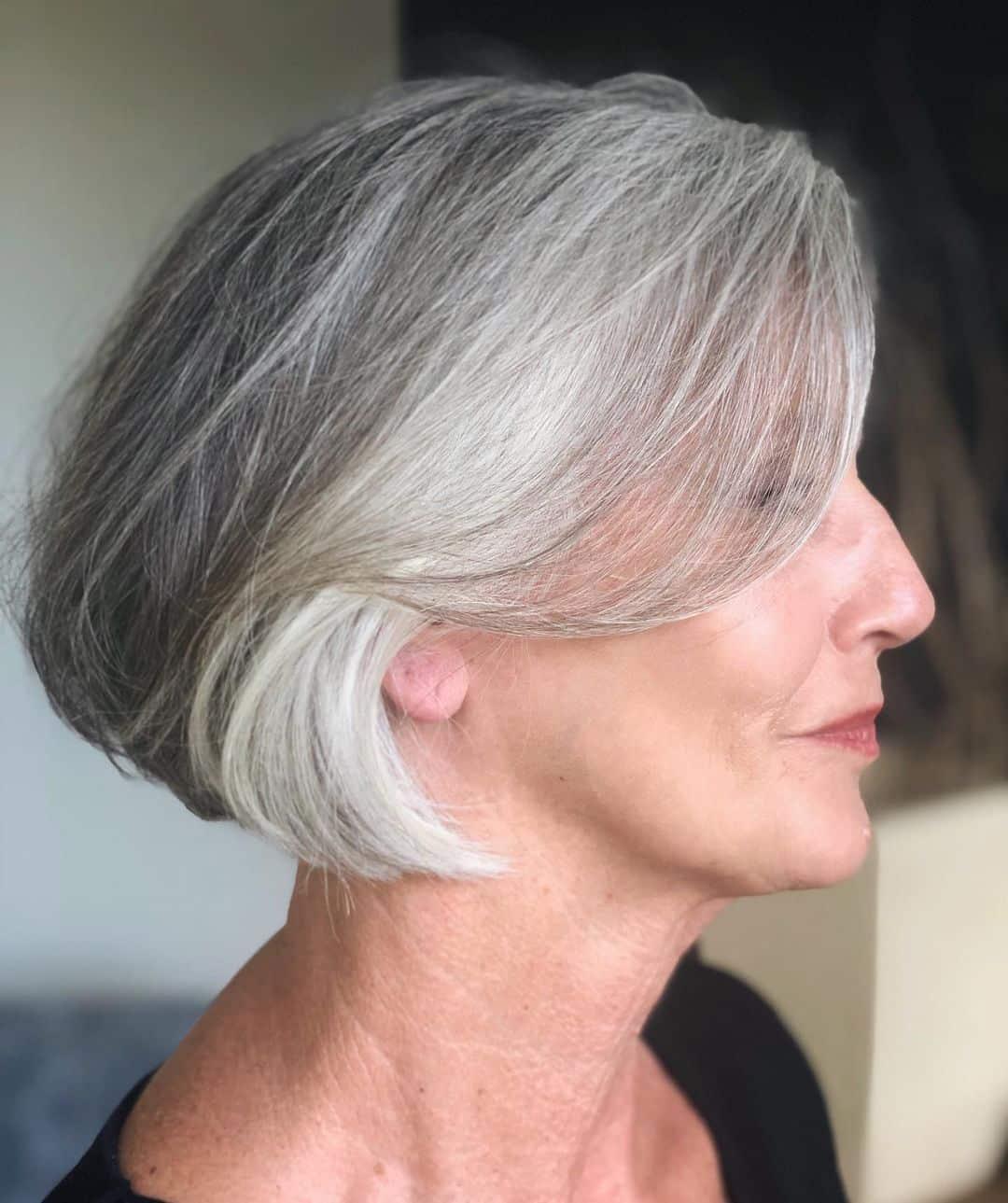 Le bob classique pour les femmes plus âgées