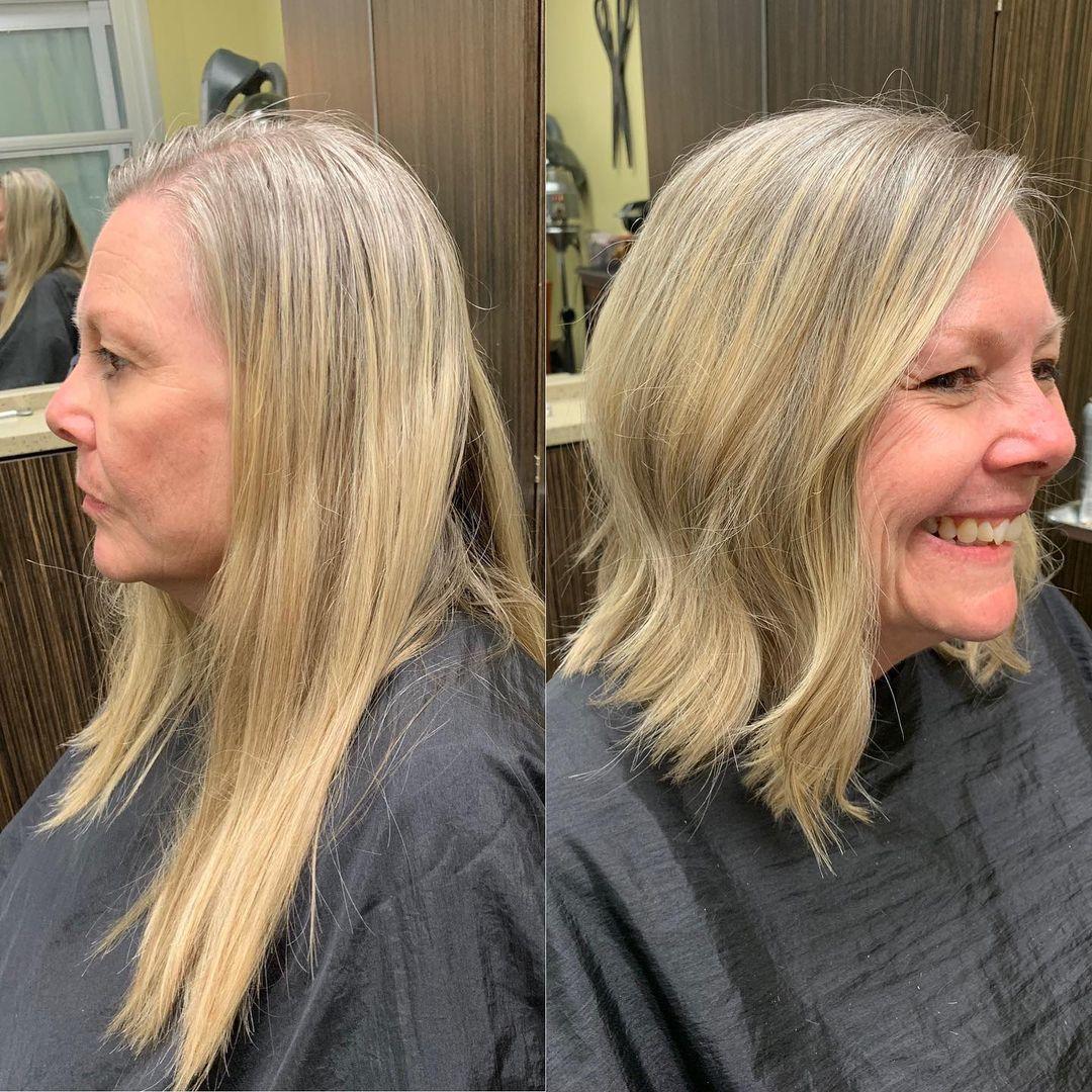 Coupe longue pour cheveux fins