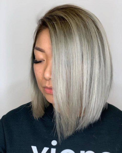 Blonde glaciale et grise
