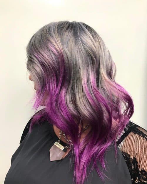 Argent et violet