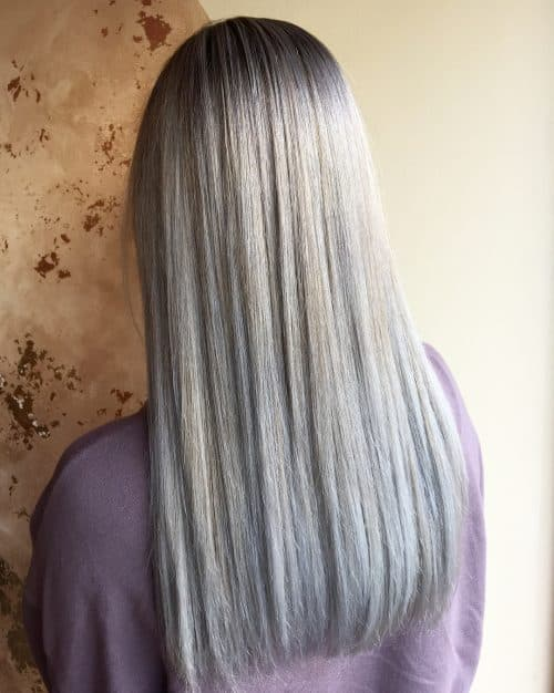 Blonde argentée et platine