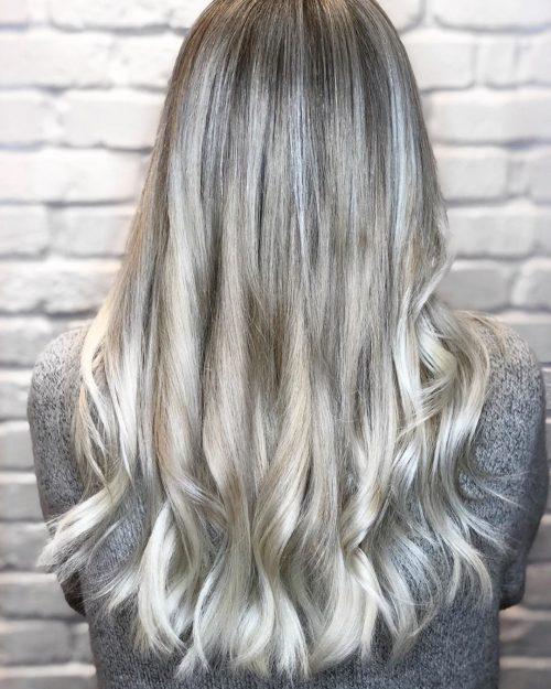 Blond cendré et argenté