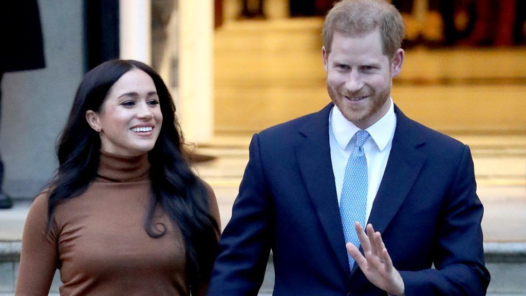 : Le prince Harry, duc de Sussex, et Meghan, duchesse de Sussex, quittent la Maison du Canada.