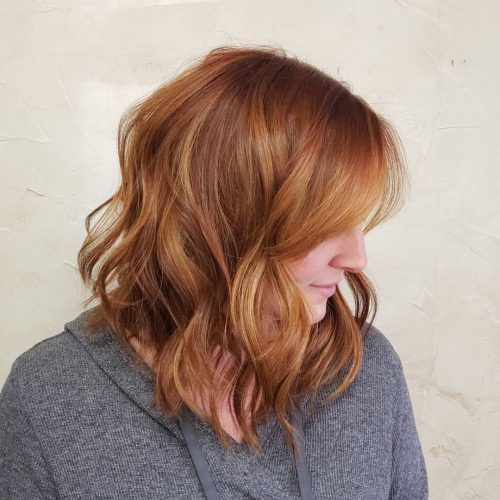 Ginger Red Wavy Bob Style