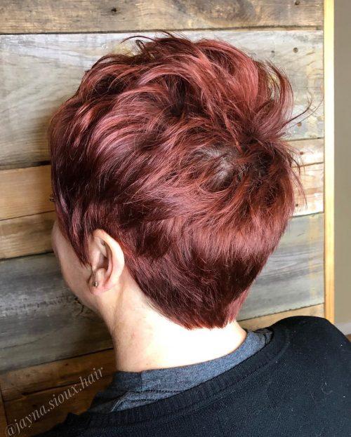 Coupe courte Pixie rouge Auburn