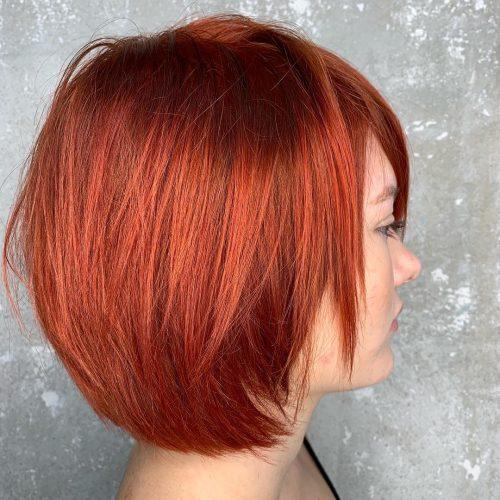 Short Copper Red Bob
