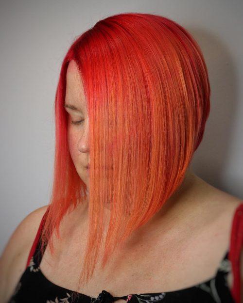 Short orange Red hair color