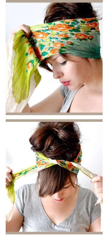 tutoriel d'écharpe de tête par temps chaud