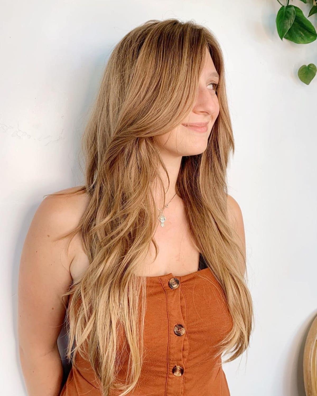 Cheveux longs et dégradés pour cheveux épais