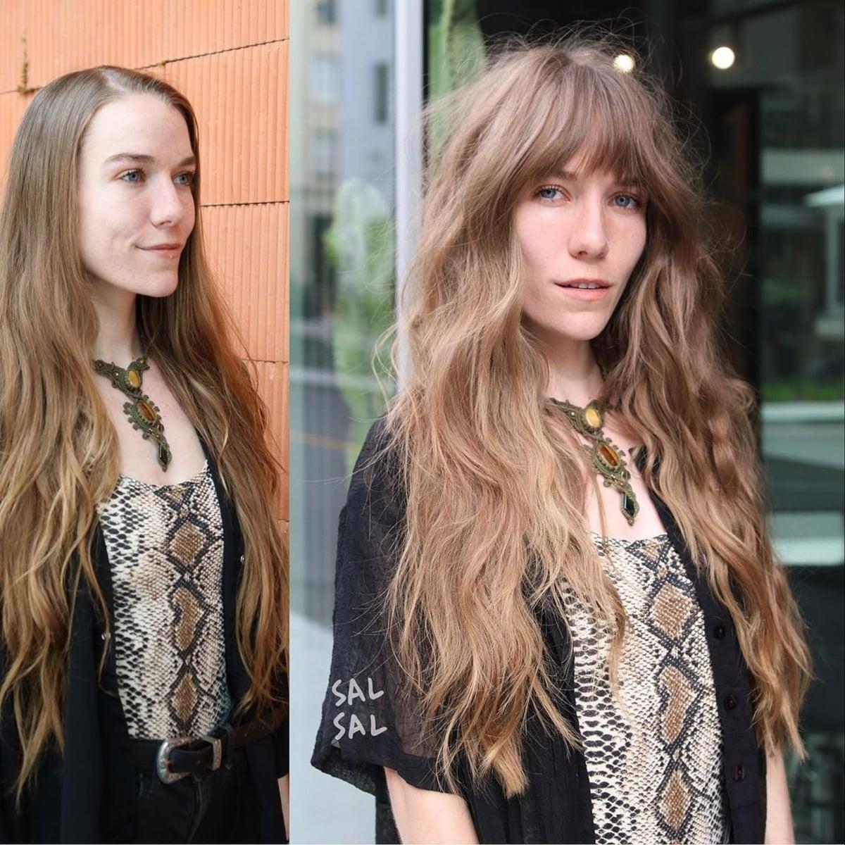 Cheveux hirsutes plus longs des années 70
