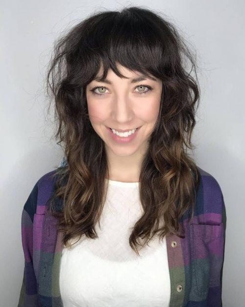 Cheveux longs ondulés pour cheveux épais