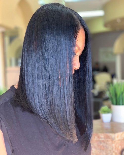 cheveux noirs bleus