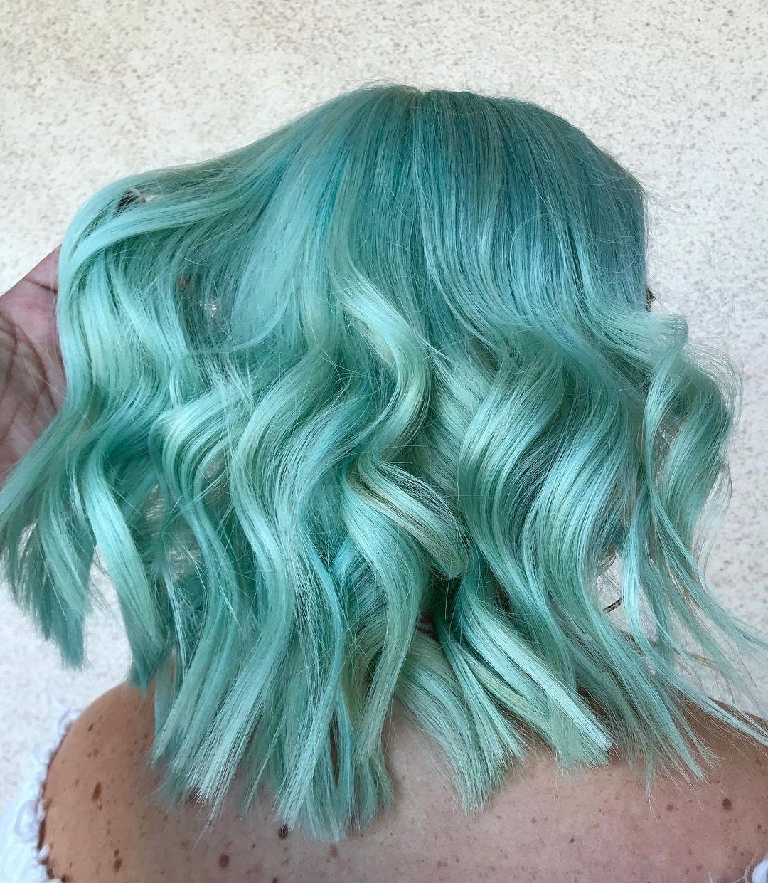 Couleur de cheveux Pastel Teal