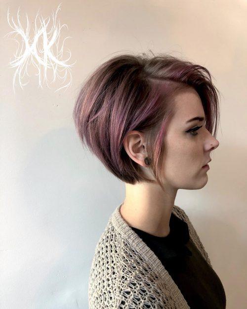 Crinière violette pastel et bourgogne