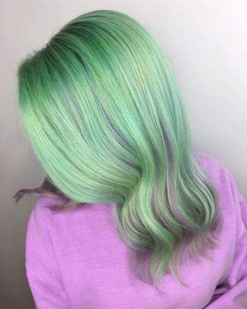 Couleur de cheveux verte