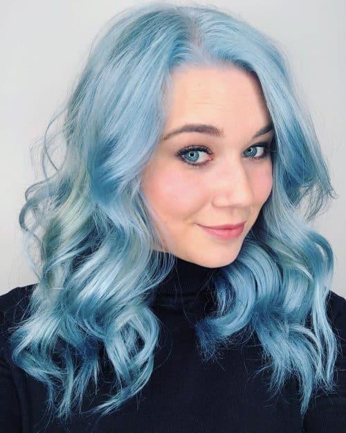 Tons de bleu pastel clair