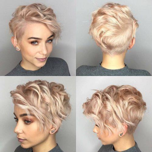 Coupe de cheveux pixie courte et hirsute