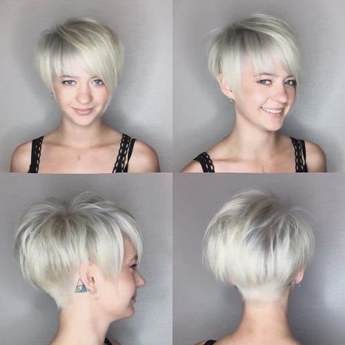 Coupe pixie edgy pour cheveux fins