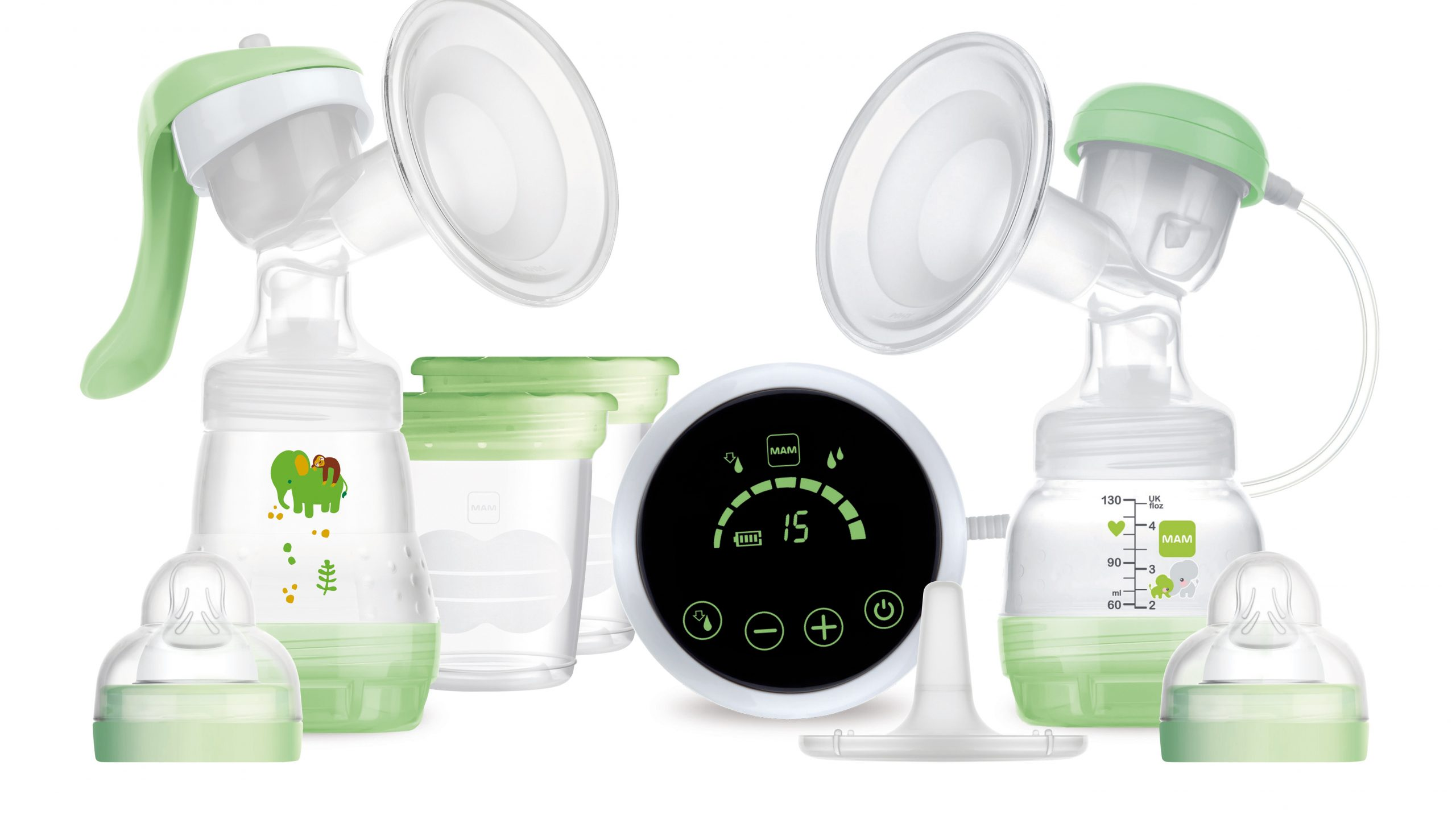 Mam 2-in-1 Electric and Manual Breast Pump