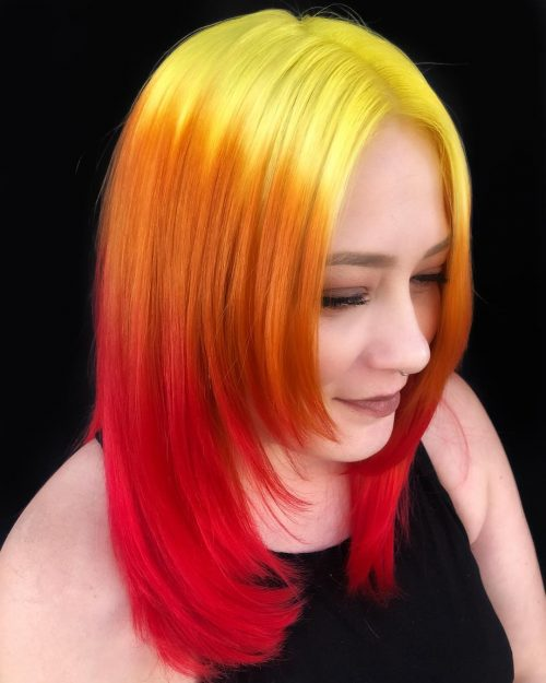 Couleur Ombre Orange, Rouge, Jaune