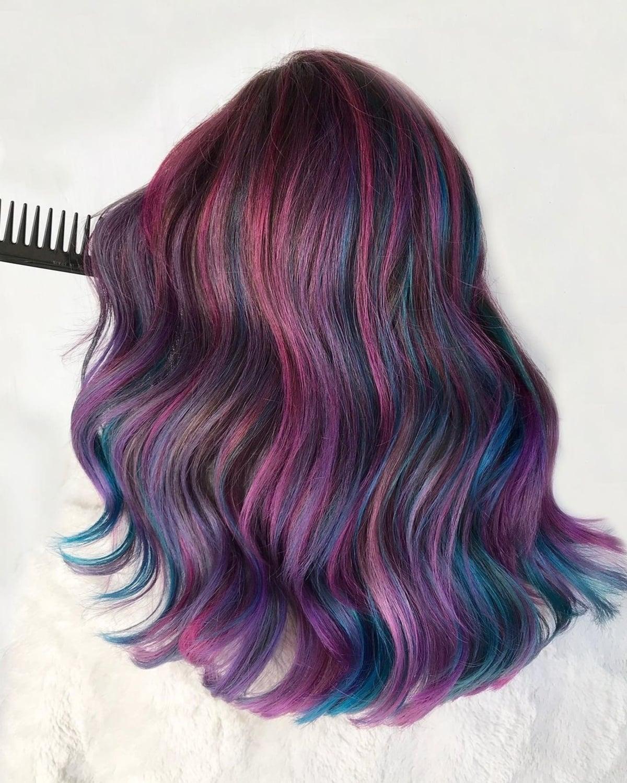 Cheveux de Galaxy plum