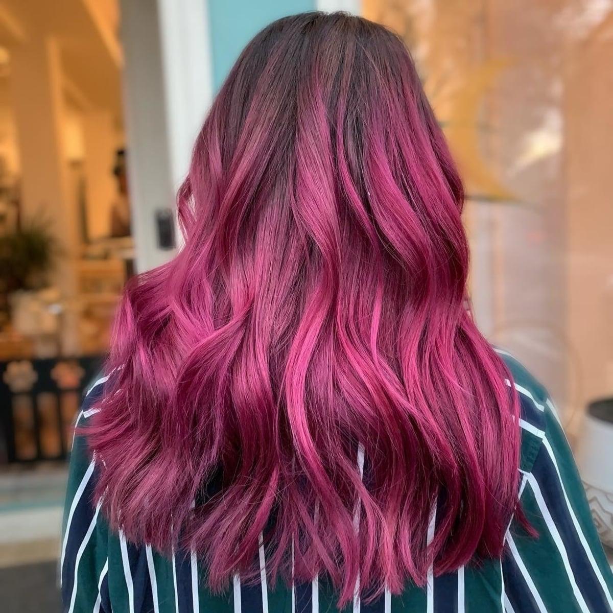 Cheveux prune galaxie
