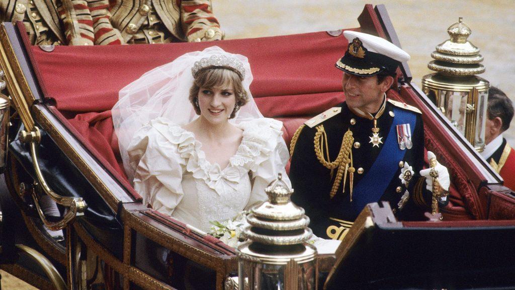 Le prince Charles, prince de Galles, et Diana, princesse de Galles, le jour de leur mariage.