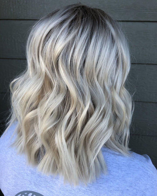Sandy Icy Blonde Hair