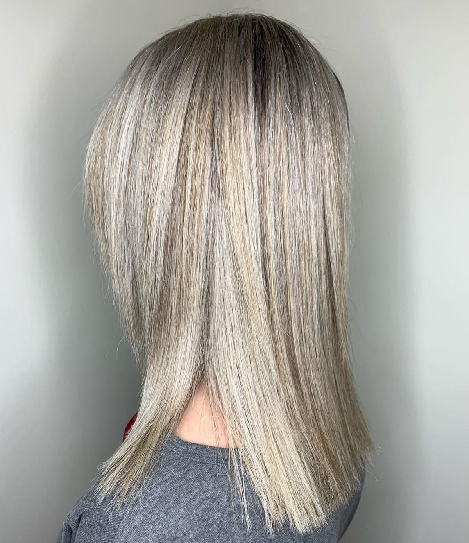 sandy platinum blonde