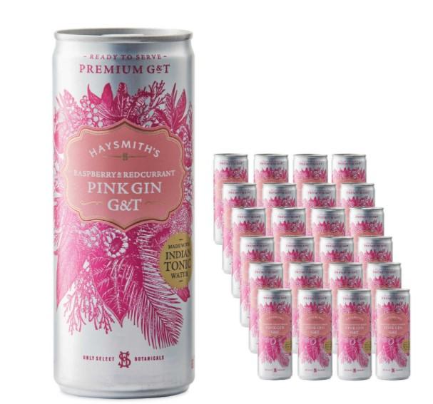 Aldi Haysmiths pink gin