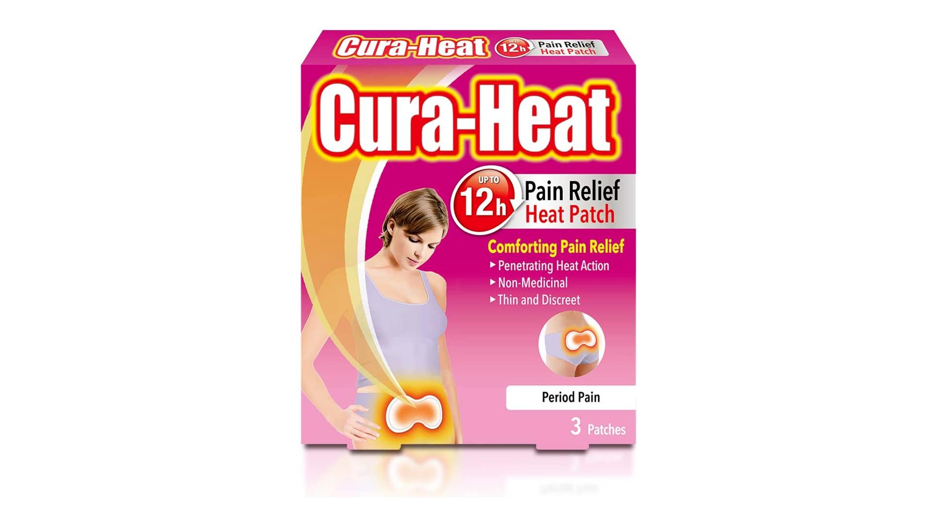 Coussinets chauffants pour les douleurs de règles Cura-heat