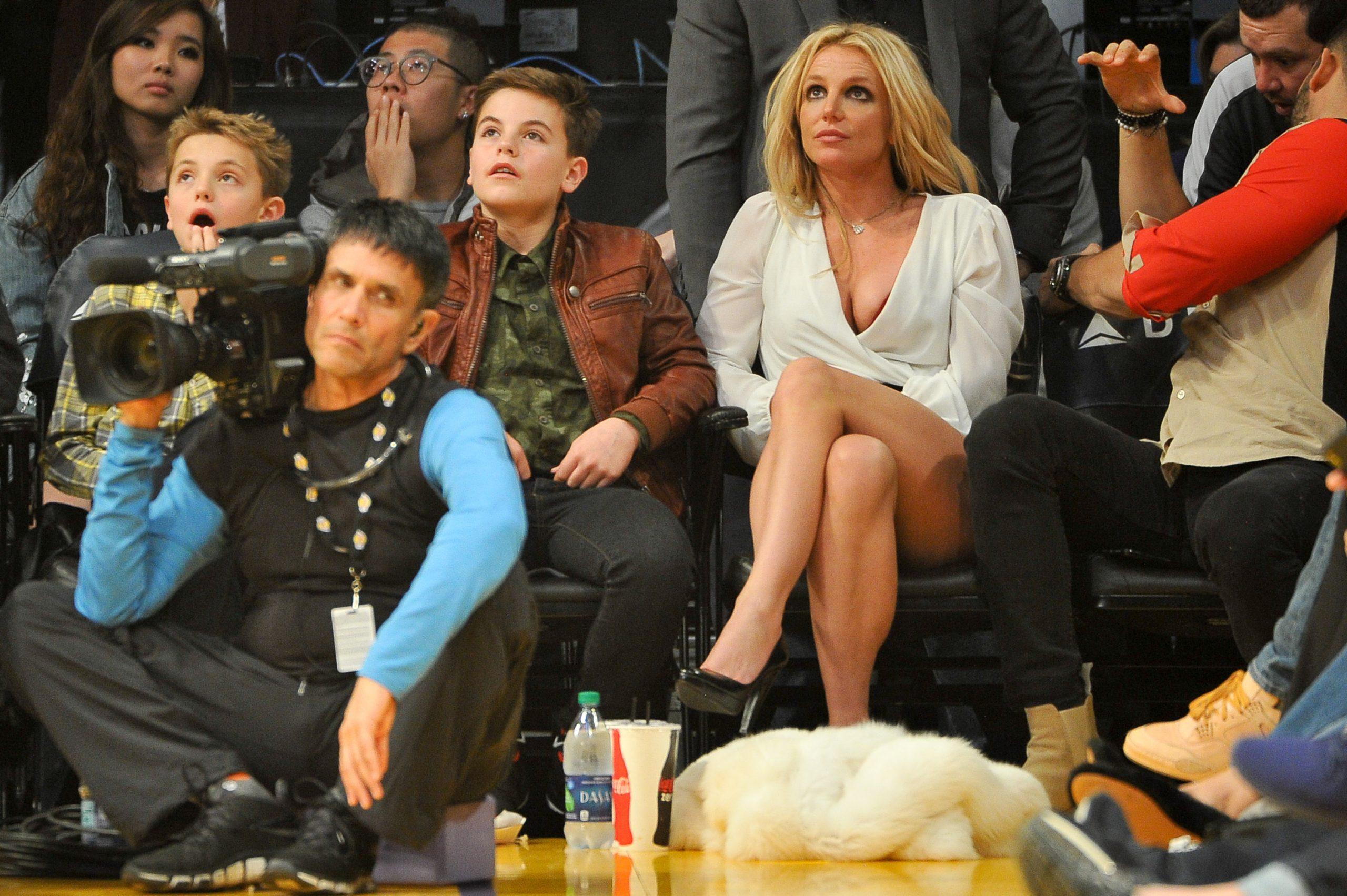 Britney Spears with her two sons Sean Preston and Jayden James Federline
