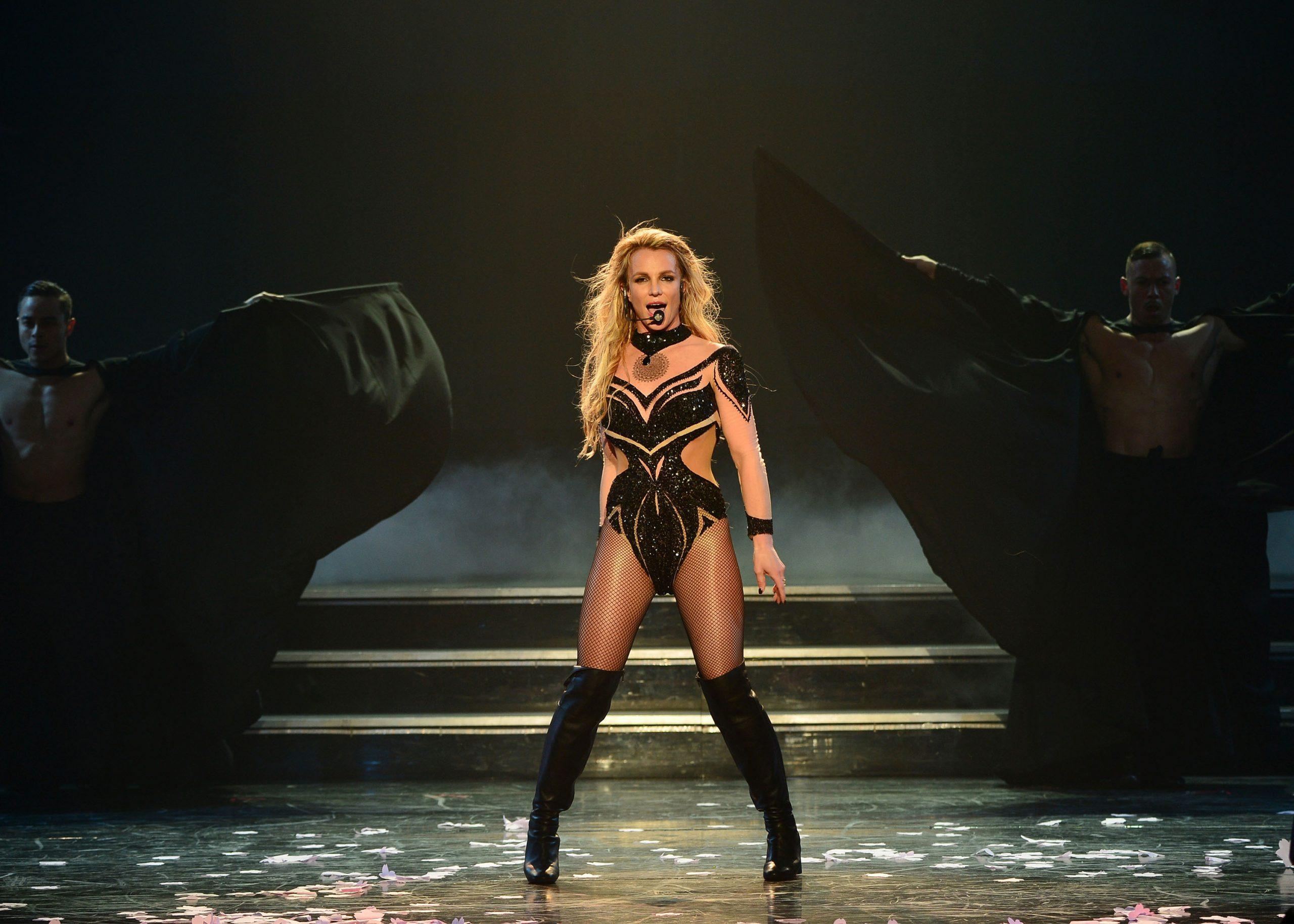 Britney performing during her Las Vegas residency