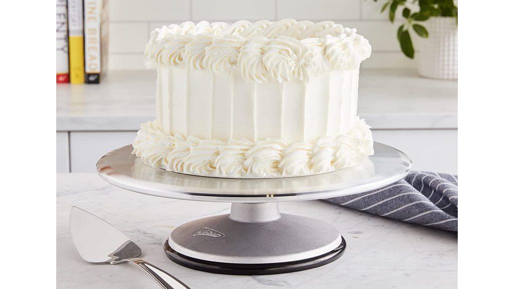 Meilleures tables tournantes pour gâteaux Support pivotant en aluminium pour la décoration de gâteaux Ateco
