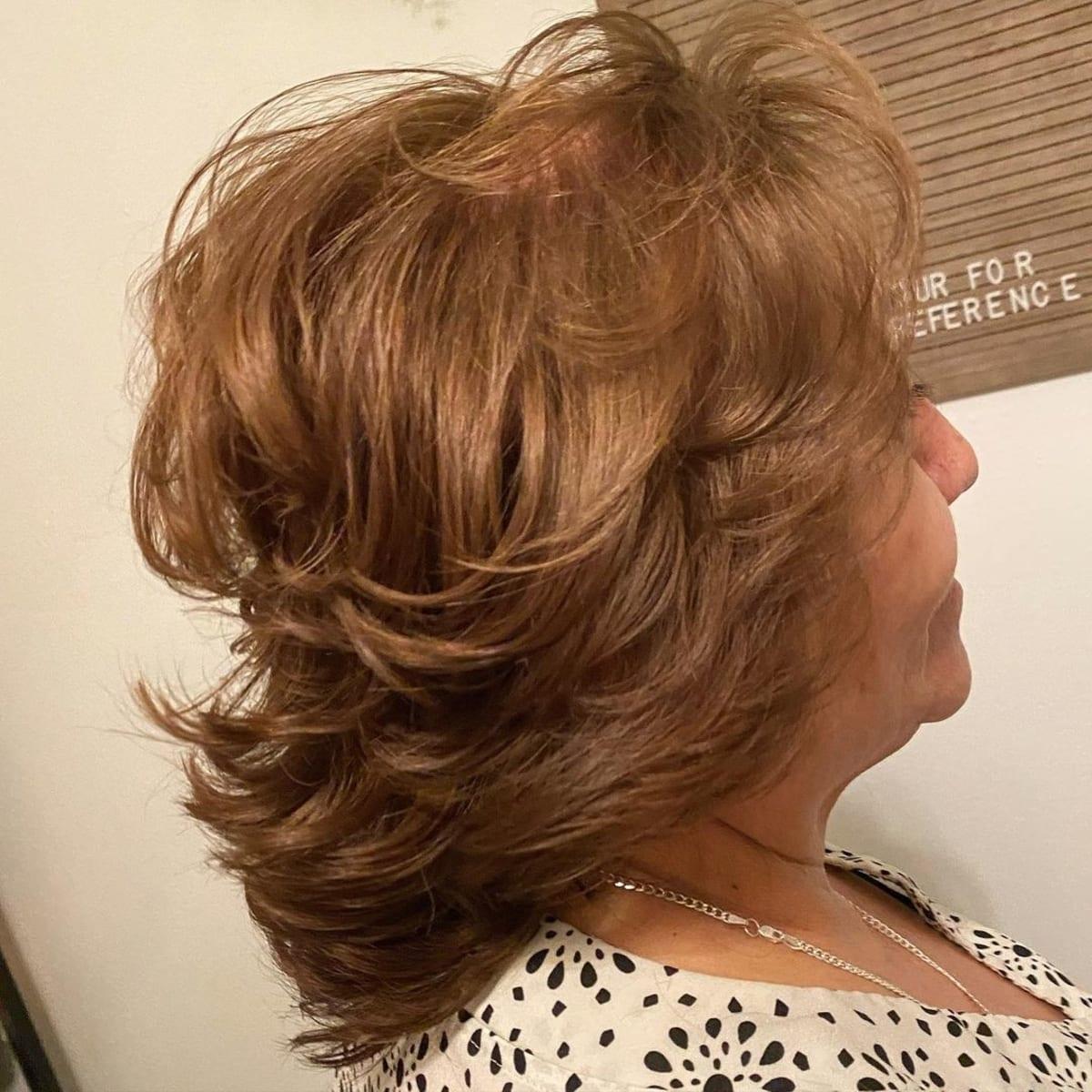 Coupe de cheveux courte et plumeuse