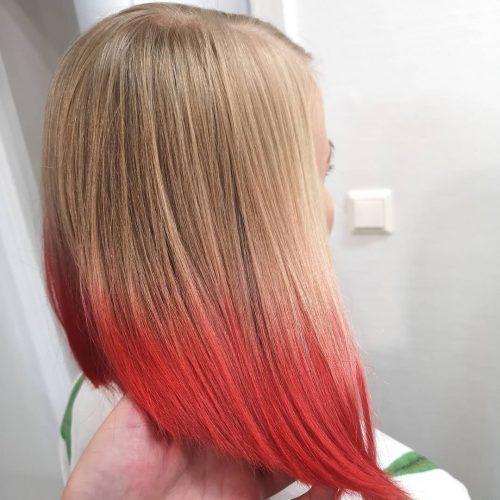 Blonde à rouge Ombre