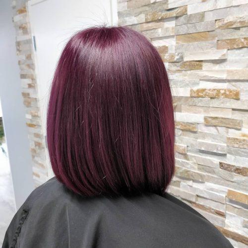 Couleur de cheveux prune clair
