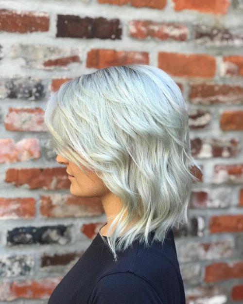 Splendide cheveux ondulés dégradés