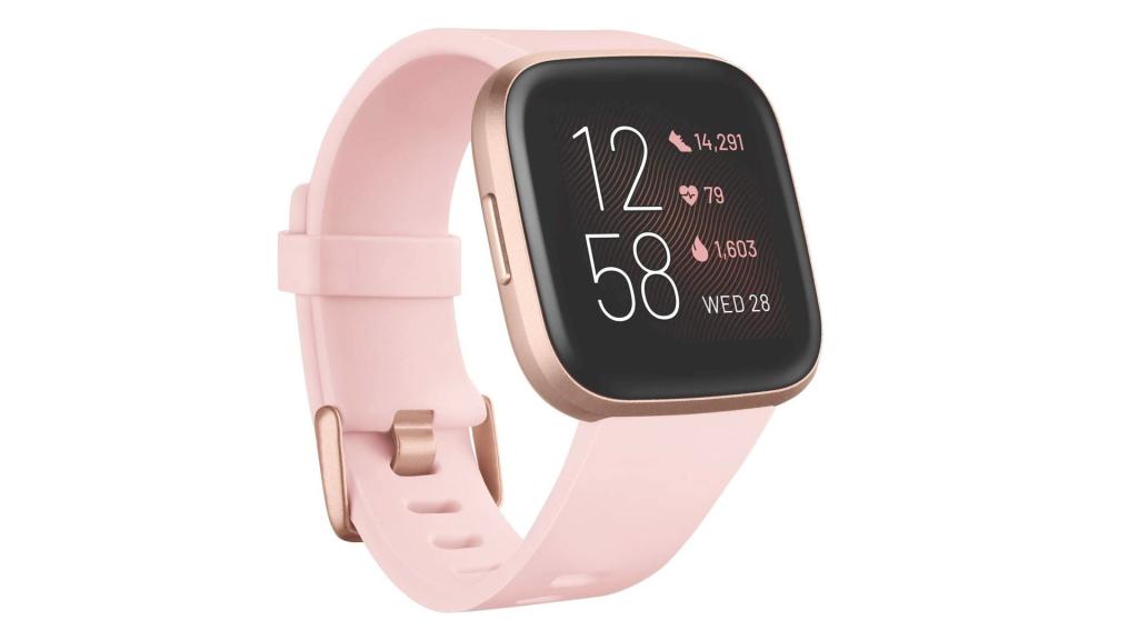 smartwatch fitbit noir carbone