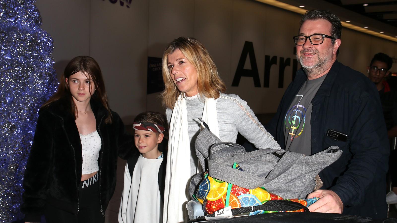 Kate Garraway, Derek Draper, et leurs enfants Darcey et Billy.