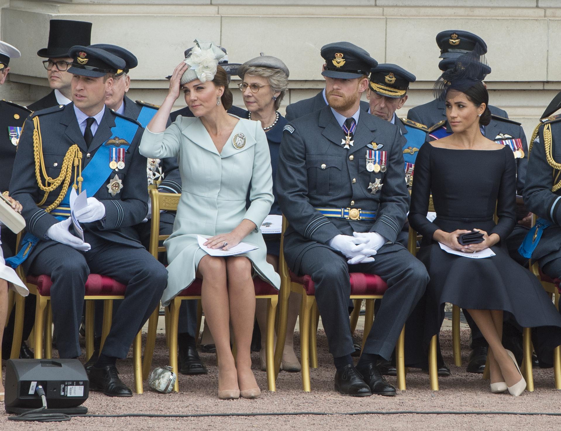 Kate Middleton, les princes William et Harry et Meghan Markle