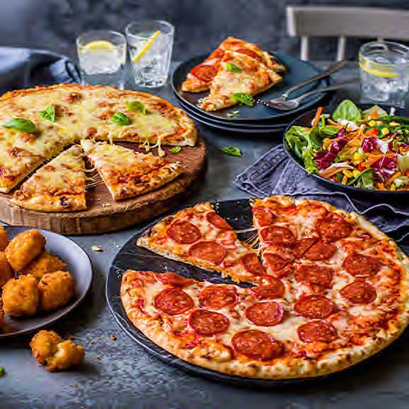 Pizza M&S, réunion d'amis M&S