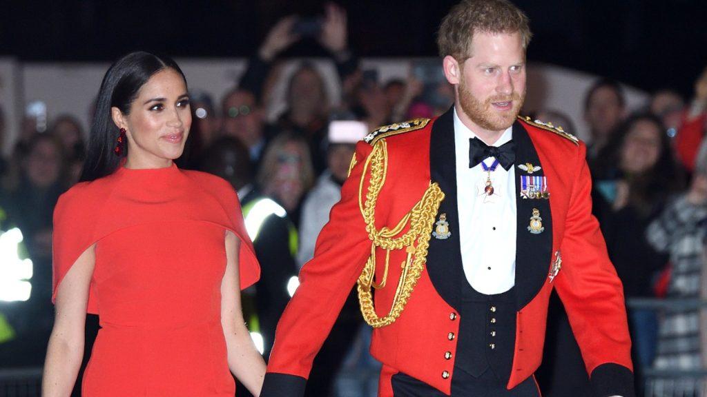 Le prince Harry, duc de Sussex, et Meghan, duchesse de Sussex, assistent au Mountbatten Festival of Music au Royal Albert Hall le 7 mars 2020 à Londres, en Angleterre.